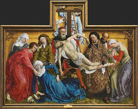 el descendimiento de Van der Weyden